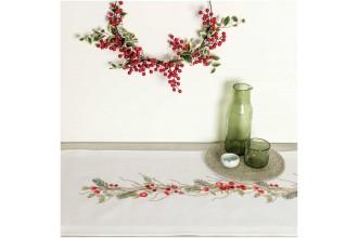 Rico - Christmas Haws Table Runner (Embroidery Kit)