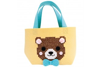 Rico - Felt Bag - Bear (Cross Stitch Kit)