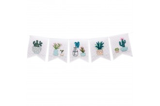 Rico - Cacti Pennant/Bunting Flags  (Cross Stitch Kit)