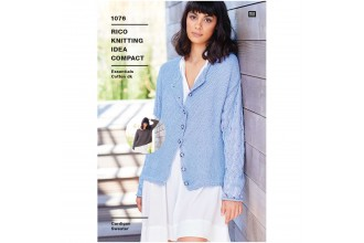 Rico Knitting Idea Compact 1076 (Leaflet) Sweater and Cardigan in Essentials Cotton DK