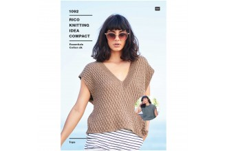 Rico Knitting Idea Compact 1092 (Leaflet) Tops in Essentials Cotton DK