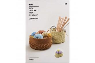 Rico Crochet Idea Compact 1101 (Leaflet) Baskets in Creative Cotton Aran