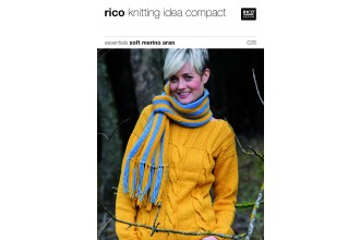 Rico Knitting Idea Compact 028 (Leaflet) Essentials Soft Merino Aran
