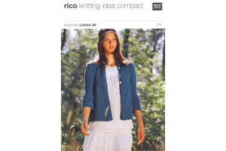 Rico Knitting Idea Compact 074 (Leaflet) Essentials Cotton DK