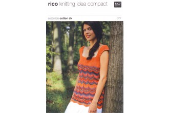 Rico Knitting Idea Compact 077 (Leaflet) Essentials Cotton DK