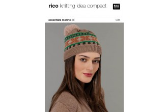Rico Knitting Idea Compact 098 (Leaflet) Essentials Merino DK - Hat and cardigan