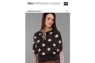 Rico Knitting Idea Compact 100 (Leaflet) Essentials Merino DK - Top