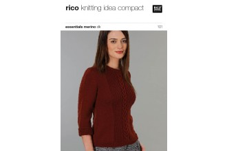 Rico Knitting Idea Compact 101 (Leaflet) Essentials Merino DK - Sweater
