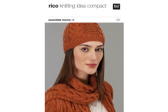 Rico Knitting Idea Compact 102 (Leaflet) Essentials Merino DK - Cardigan, hat and scarf
