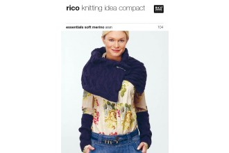 Rico Knitting Idea Compact 104 (Leaflet) Essentials Soft Merino Aran - Stole and wrist warmers