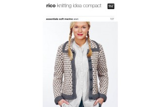 Rico Knitting Idea Compact 107 (Leaflet) Essentials Soft Merino Aran - Cardigan