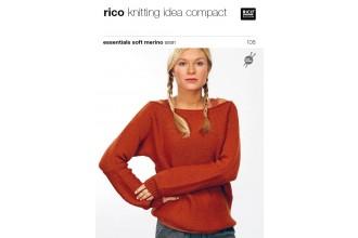 Rico Knitting Idea Compact 108 (Leaflet) Essentials Soft Merino Aran - Sweater