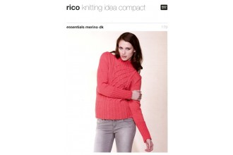 Rico Knitting Idea Compact 179 (Leaflet) Essentials Merino (DK) Cable Front Sweater