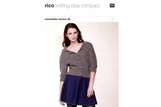 Rico Knitting Idea Compact 181 (Leaflet) Essentials Merino (DK) Jacket with Long & Three-Quarter Sleeve