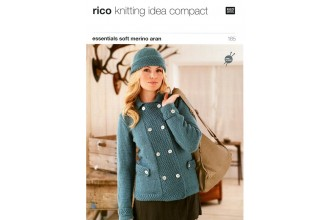 Rico Knitting Idea Compact 185 (Leaflet) Essentials Soft Merino (Aran) Double-Breasted Jacket