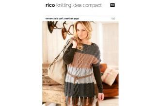 Rico Knitting Idea Compact 186 (Leaflet) Essentials Soft Merino (Aran) Fringed Sweater