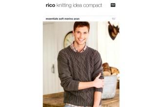 Rico Knitting Idea Compact 187 (Leaflet) Essentials Soft Merino (Aran) Round & Wrap Neck Sweaters