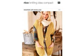 Rico Knitting Idea Compact 189 (Leaflet) Essentials Soft Merino (Aran) Long Waistcoat & Long Waistcoat with Turnback Border