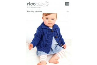 Rico Knitting Idea Compact 197 (Leaflet) Rico Baby Classic (DK) Baby's Cardigans