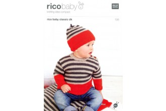 Rico Knitting Idea Compact 198 (Leaflet) Rico Baby Classic (DK) Baby Sweater, Blanket & Hat