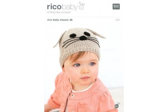 Rico Knitting Idea Compact 201 (Leaflet) Rico Baby Classic (DK) Children's Hats