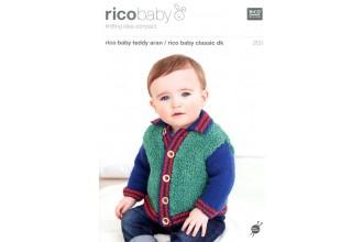 Rico Knitting Idea Compact 203 Rico Baby Teddy (Aran)/ Baby Classic (DK) (leaflet)