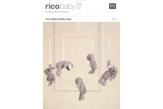 Rico Knitting Idea Compact 204 (Leaflet) Rico Baby Teddy (Aran) Children's Mobile
