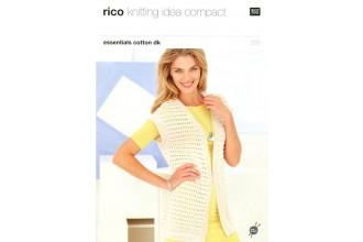 Rico Knitting Idea Compact 222 (Leaflet) Essentials Cotton DK Long & Short Waistcoats