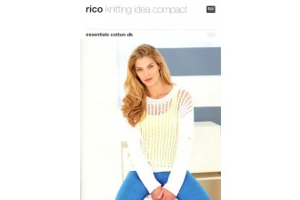 Rico Knitting Idea Compact 224 (Leaflet) Essentials Cotton DK Lacy Top and Sweater