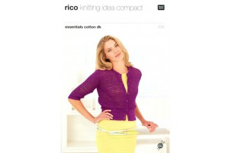 Rico Knitting Idea Compact 225 (Leaflet) Essentials Cotton DK Cardigans