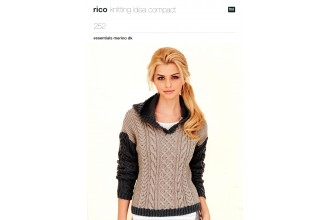 Rico Knitting Idea Compact 252  (Leaflet)  Essentials Merino DK Cabled Tunic and Sweater (DK)