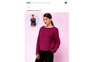 Rico Knitting Idea Compact 259  (Leaflet)  Essentials Soft Merino Aran Sweaters and Cuffs (Aran)