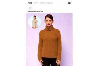 Rico Knitting Idea Compact 260  (Leaflet)  Essentials Soft Merino Aran Sweater and Top (Aran)