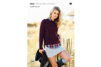 Rico Knitting Idea Compact 356  (Leaflet) Sweater in Essentials Merino DK