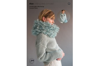 Rico Knitting Idea Compact 374  (Leaflet) Sweater & Snood in Essentials Alpaca Blend Chunky and Essentials Mohair