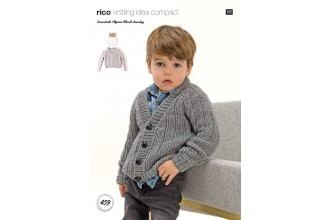 Rico Knitting Idea Compact 459 (Leaflet) Cardigan and Sweater in Essentials Alpaca Blend Chunky