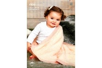 Rico Knitting Idea Compact 465  (Leaflet) Baby Classic and Baby Teddy Blankets (DK, Aran)