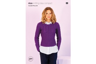 Rico Knitting Idea Compact 472 (Leaflet) Sweater and Cardigan in Essentials Merino DK
