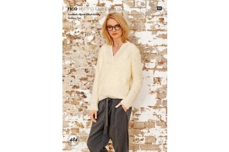 Rico Knitting Idea Compact 484 (Leaflet) Sweater in Essentials Alpaca Blend Chunky and Fashion Fur