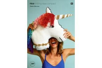 Rico Knitting Idea Compact 542 (Leaflet) Unicorn Cushion in Creative Cotton  (Aran)