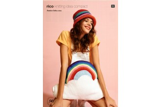 Rico Knitting Idea Compact 543 (Leaflet) Cloud Cushion With Rainbow in Creative Cotton  (Aran)