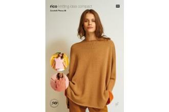 Rico Knitting Idea Compact 549 (Leaflet) Square Jumper, Square Top & Striped Square Top in Essentials Merino DK