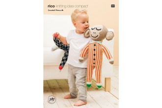 Rico Knitting Idea Compact 585 (Leaflet) Monket with Striped Jumpsuit in Essentials Merino DK
