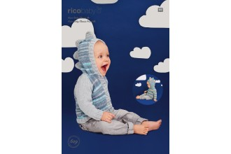 Rico Knitting Idea Compact 609 (Leaflet) Dinosaur Hoodies in Baby Classic (DK) and Baby Classic Print (DK)