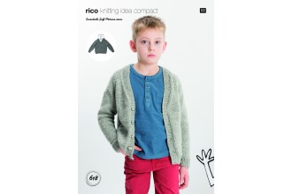 Rico Knitting Idea Compact 618 (Leaflet) Sweater and Cardigan in Essentials Soft Merino Aran