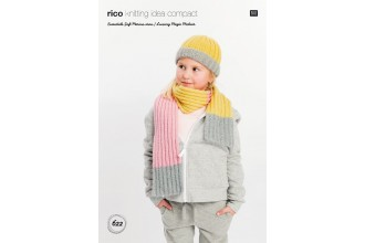 Rico Knitting Idea Compact 622 (Leaflet) Hat and Scarf in Essentials Soft Merino Aran