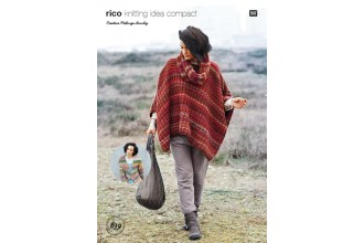 Rico Knitting Idea Compact 639 (Leaflet) Poncho, Cardigan and Snood in Creative Melange Chunky
