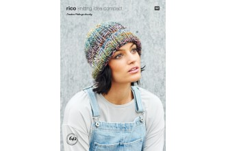 Rico Knitting Idea Compact 642 (Leaflet) Hat in Creative Melange Chunky