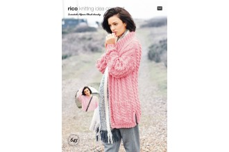 Rico Knitting Idea Compact 645 (Leaflet) Sweater and Cardigan in Essentials Alpaca Blend Chunky