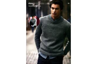 Rico Knitting Idea Compact 646 (Leaflet) Essentials Soft Merino Classic Round Neck Sweaters (Aran)
